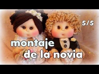 Muñecos novios ,hoy montaje de la novia y fin del curso 5.5 video-244