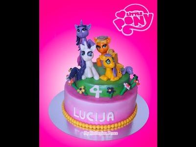 MY LITTLE PONY CAKE. 4 ponies