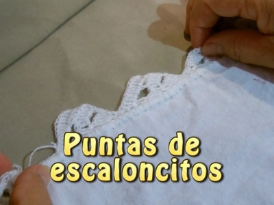 Puntas de escaloncitos |Creaciones y manualidades angeles