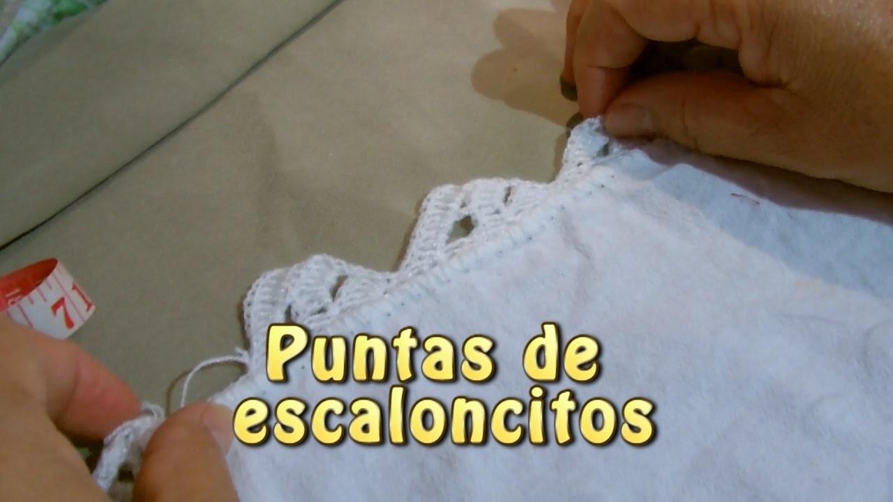 Puntas de escaloncitos |Creaciones y manualidades angeles