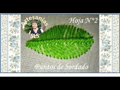 Puntos de bordado ♥ Hoja N°2 ♥ Hand embroidery ♥