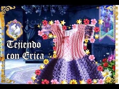 Rapunzel vestido a crochet parte #1.!!