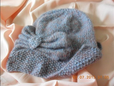 Sombrero tejido con dos agujas parte 3 de 5