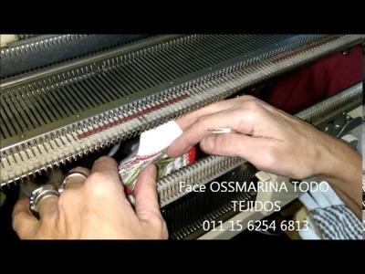 Tejiendo guantes con jackard con OSSMARINA parte 8