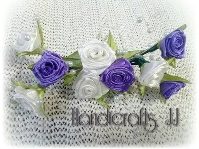 Tocado con flores de listón