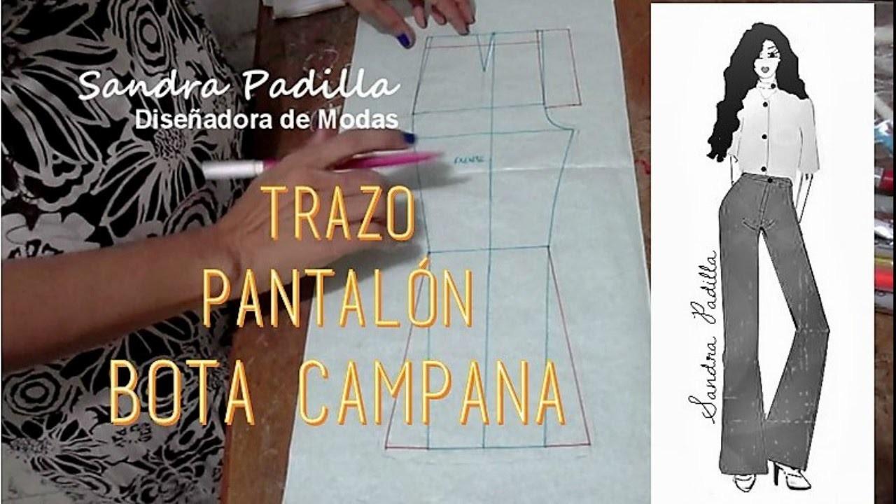 Trazo de Pantalón Flare o Bota Campana - Tutorial de SANDRA PADILLA