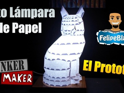 Tutorial ★ Gato Lampara de Papercraft: El Prototipo #1 ft. Bunker Maker