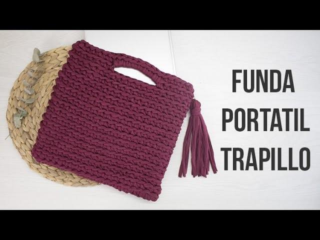 Bolso - Funda para el portátil de trapillo