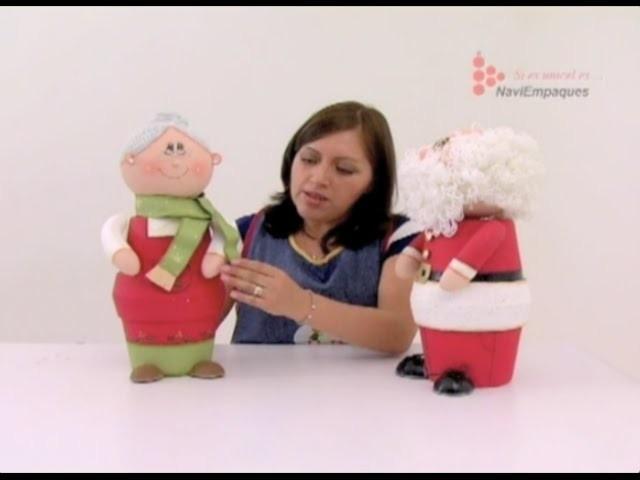 BOMBONERAS DE SANTA Y SEÑORA CLAUS