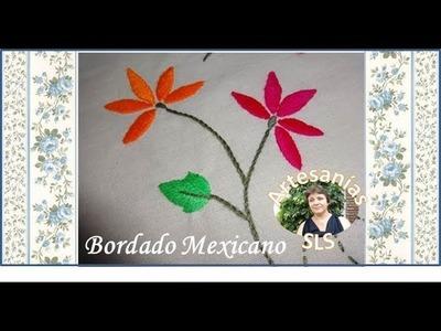 Bordado Mexicano paso a paso ♥ Principiantes ♥ Ramo - Flor ♥ Parte 1.4 ♥