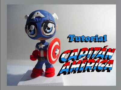 Capitán América fimo. Polymer clay. plastilina. porcelana fria