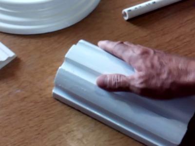 Como elaborar una tarraja para una columna estriada, a escala. .