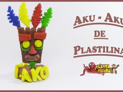 Como hacer a AKU-AKU de Plastilina. Porcelana Fria.How to make AKU-AKU with Clay.Plasticine