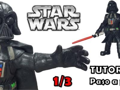 Como hacer a Darth Vader de Disney Infinity de Plastilina 1-3 Star Wars
