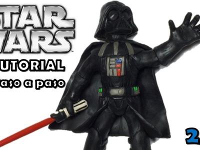 Como hacer a Darth Vader de Disney Infinity de Plastilina 2-3 Star Wars