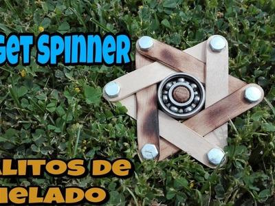Como hacer el Fidget Spinner casero mas bonito del mundo con palitos de helado. Fabrícalo tú.
