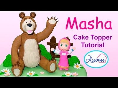 Cómo hacer Masha y El Oso para tortas Parte 1. Masha and The Bear (Cake Toppers) Part 1
