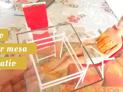 Como hacer muebles de patio  2 de 3  para munecas