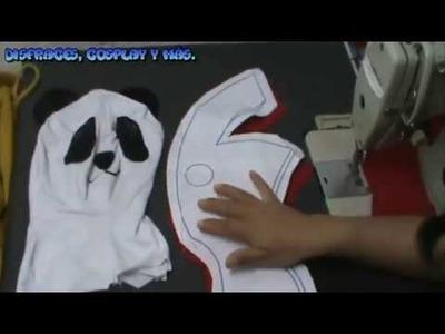 Como hacer una máscara de panda + patrones