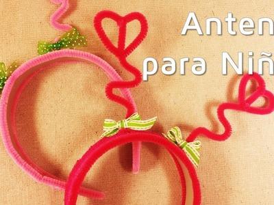 Cómo hacer unas antenas para niñas con limpiapipas | facilisimo.com