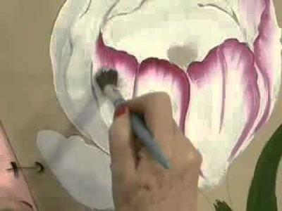 Como pintar flores   Tecnica americana   Manos a la Obra