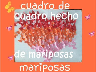 CUADRO DE CORAZON CON MARIPOSAS -idea|Abisara