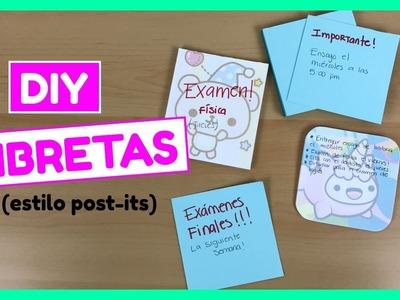DIY Cómo hacer libretas caseras (estilo post-its)!