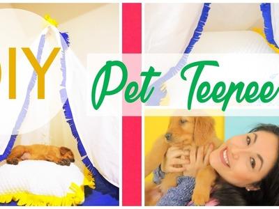 DIY Dog & Cats Teppee.  DIY como hacer un teepee para mascotas  by wendylou