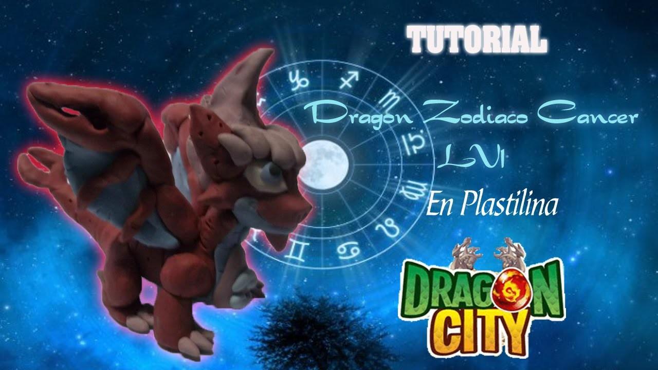 Dragon City. Tutorial: Dragon Zodiaco Cáncer LV1 en Plastilina. Zodiac Cancer Dragon LV1