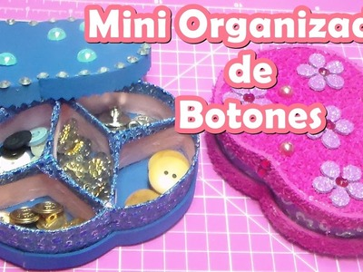 ♻Mini Organizador de Botones con tubitos de papel higienico