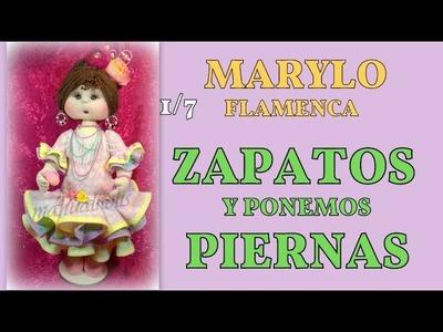 Muñeca Marylo flamenca , zapatos , 1.7 video-254