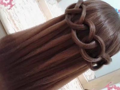 Peinados recogidos faciles para cabello largo bonitos y rapidos con trenzas para niña para fiestas83