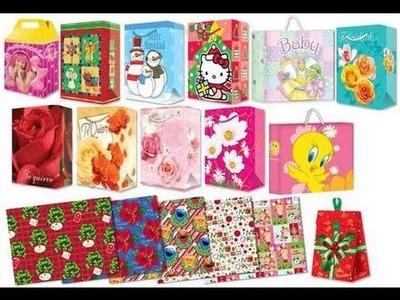 RECICLA y REUTILIZA bolsas de regalo y papel china o de regalo para COSAS ÚTILES y PRODUCTIVAS