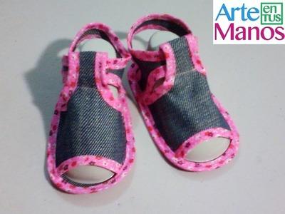 Sandalias para bebé en tela, fácil paso a paso
