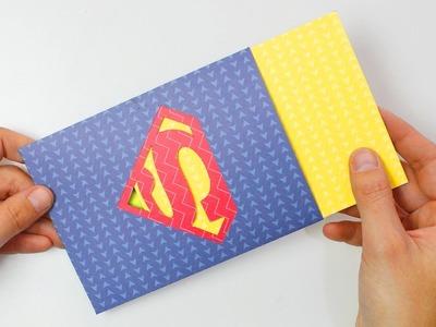 Tarjeta logo SUPERMAN para súper papá - súper mamá (con plantillas)