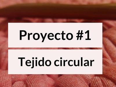 Tejido circular zurdos. Proyecto#1.  Primer anillo. Punto bajo.