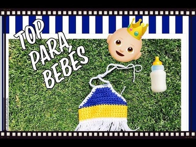 Tutorial Paso a Paso de un Top a crochet para bebes recien nacida .!!!