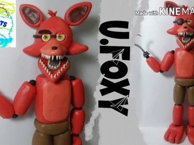 "Tutorial ""UNWITHERED FOXY"" DE PLASTILINA. . ."
