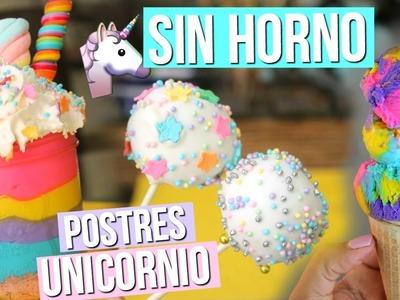 3 Postres de Unicornio SIN HORNO | RebeO