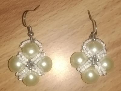 Aretes de perlas paso a paso