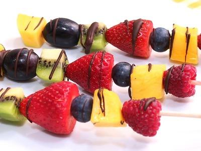 Brochetas de Fruta con Chocolate | Fáciles Rápidas y Deliciosas!