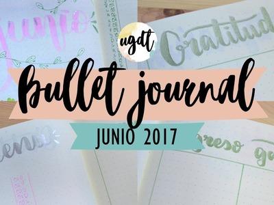 Bullet Journal Junio 2017 - Decoración y edición - Tutorial en español - UGDT