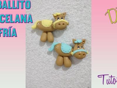 Caballito Porcelana Fria Facil de hacer. How to make horse cold porcelain