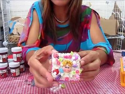 Cajita para guardar joyas con tecnica ''Decoden''