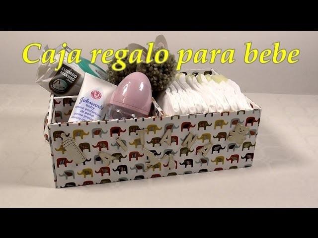 Canastilla para bebe de cartón. Babyshower