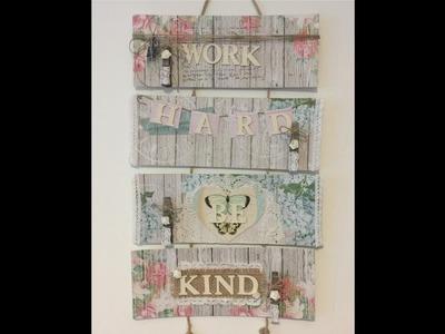 Cartel de tablas vintage de cartón - creavea