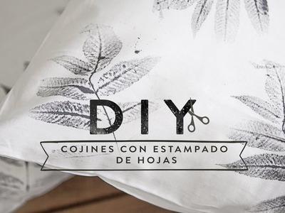 Cómo decorar telas con estampados de hojas naturales | DIY Westwing