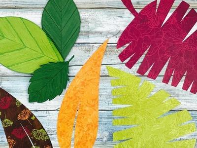 COMO HACER HOJAS DE PAPEL | MOLDES GRATIS | HOW TO MAKE PAPER LEAVES