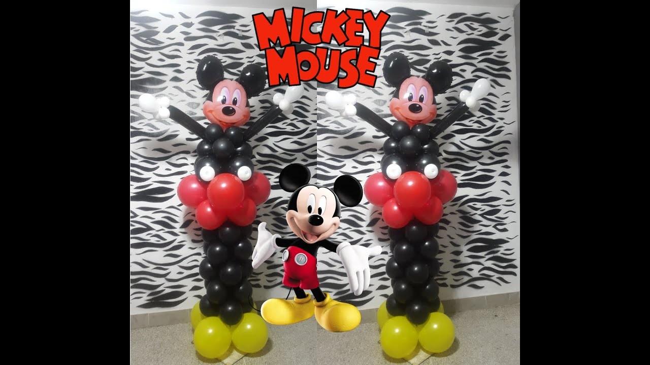 Como hacer mickey mouse con globos paso a paso
