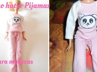 Como hacer pijamas para muñecas